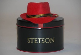 Stetson Hat Red 3.25x4.25