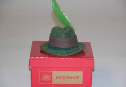 Stetson Hat Red Box 2.75x3.25